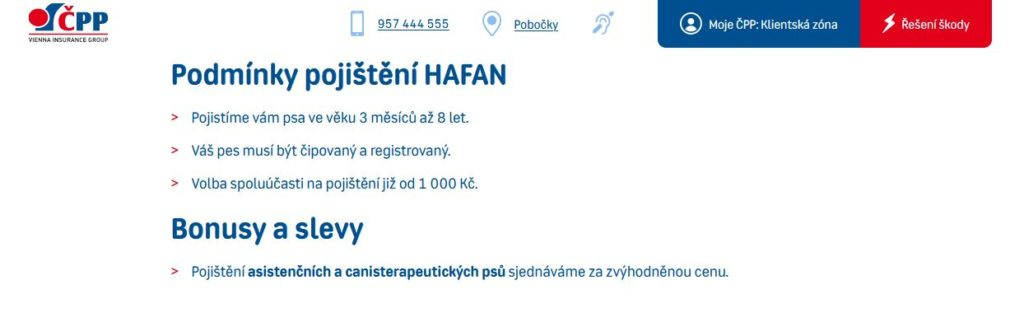 Cpp Pojisteni Psu Hafan Podminkyjpg