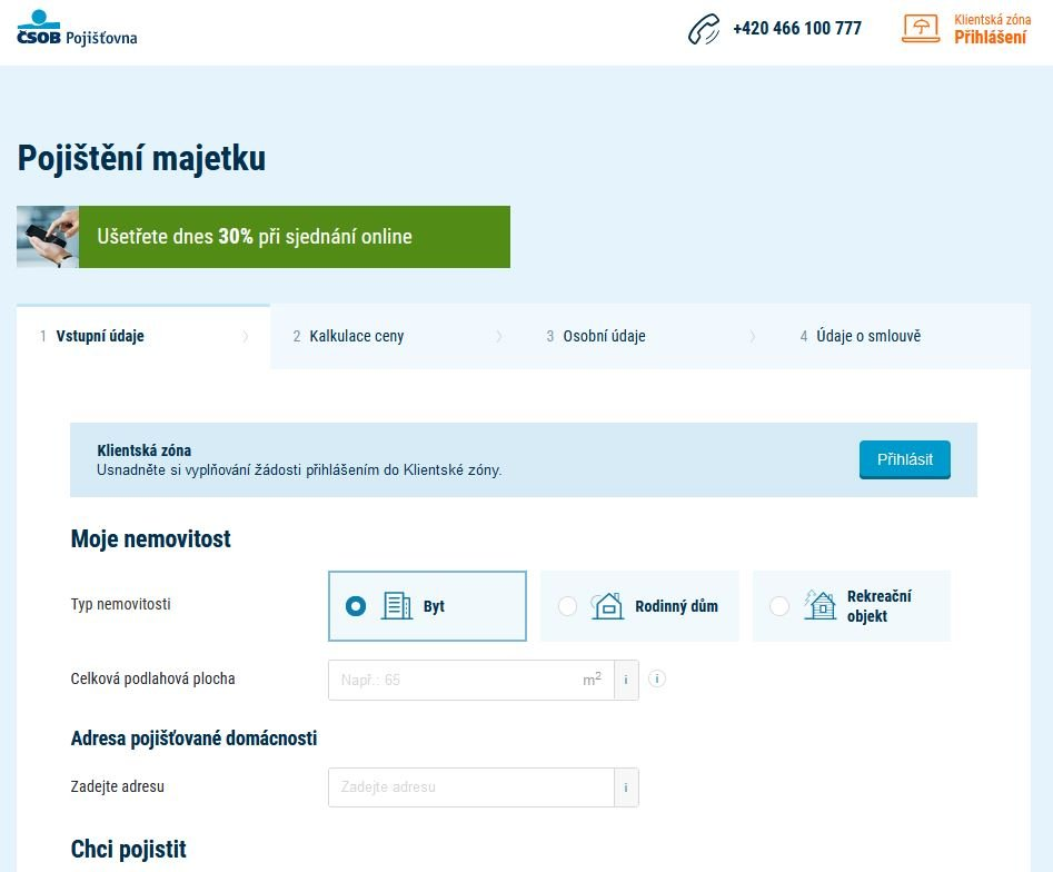 Csob Pojisteni Majetku Staveb Pojisteni Online